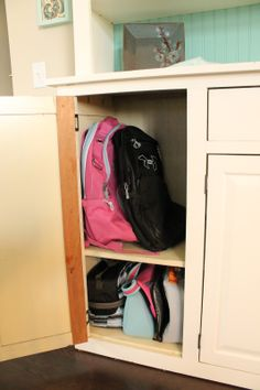 Even tho we have a mudroom, everything still comes into the kitchen.  A must-have for me is lots of storage for the day to day stuff like backpacks, purses, binoculars...