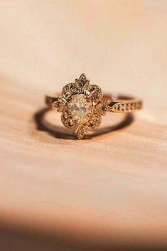 Fashion Lady Or Rose Big Faux Diamant Ouvert Anneau Bague De Fiançailles JEWELRY G
