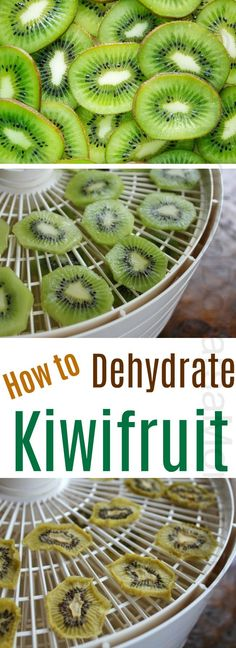 How to Dehydrate Kiwifruit – Gesundes Abendessen, Vegetarische Rezepte, Vegane Desserts, Kiwi Recipes, Raw Food Recipes, Dehydrated Food Recipes, Healthy Recipes, Dried Fruit, Dry Food Storage, Storage Ideas, Storage Shelves, Sweets