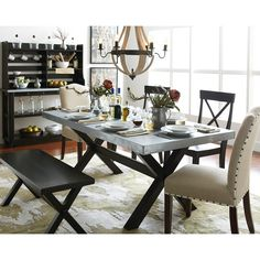 Art Van Keaton Trestle Table