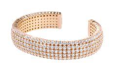 Norman Silverman Rose Gold Diamond Cuff.