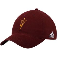 0b0715f2b690c ... closeout arizona state sun devils adidas on field baseball adjustable  slouch hat maroon 4ccc1 3471f