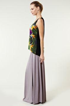 Wrap-maxi skirt