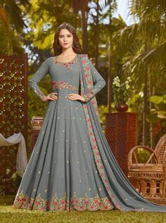 RAMA D.NO.-20031 RATE : 2450 - RAMA FASHION RAAZI VOL 8  RAMA 20025-20032 SERIES  GEORGETTE EMBROIDERED TRADITIONAL OCCASIONALLY FASHION PARTY WEDDING WEAR INDIAN WOMEN FASHION ANARKALI DRESS AT WHOLESALE PRICE AT DSTYLE ICON FASHION CONTACT: +917698955723 - DStyle Icon Fashion