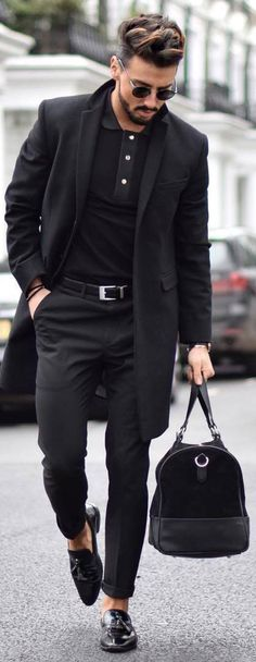 Hot on Instagram! 5,559 Likes so far. All Black Urban Chic. Stunning Coat and coordinated accessories down to shades and man beads.