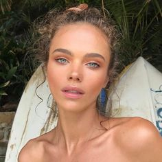 Beauty Inspiration – Great Make Up Ideas Glowy Makeup, Natural Makeup, Beauty Makeup, Face Makeup, Hair Beauty, No Makeup, Natural Beauty, Sommer Make Up, Tumbrl Girls