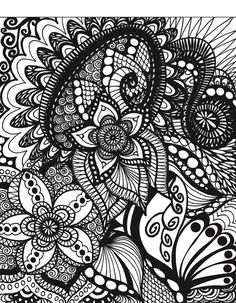 50 Original Doodles To Color Calming Doodles Volume by ColorItCom
