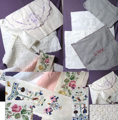 1d70cbdd35a44f Online veilinghuis Catawiki  Lot met 14 stuks antiek textiel -  oefenlappen verstellappen en geborduurde gehaakte items - Nederland - circa  1950