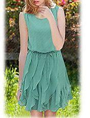 Women's Round Neck Sleeveless Dress – USD $ 44.09