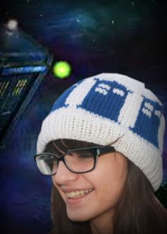 Knitted Doctor Who Tardis beanie hat by 2LoopyCrocheters on Etsy