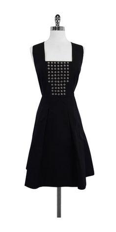 Tracy Reese Black Cotton Blend Sleeveless Dress