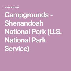 Campgrounds - Shenandoah National Park (U.S. National Park Service)