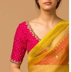 Pattu Saree Blouse Designs, Blouse Designs Silk, Bridal Blouse Designs, Designer Blouse Patterns, Traditional Blouse Designs, Simple Blouse Designs, Stylish Blouse Design, Maggam Works, Wedding