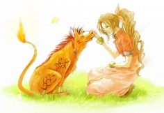 Final Fantasy VII Aerith and Red XIII
