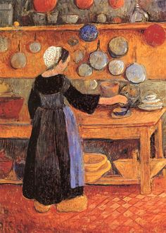 The Athenaeum - Breton Woman in the Kitchen (Paul Sérusier - )