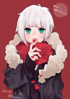 """椿つばる on Twitter: """"ハッピーバレンタイン チョコの代わりに(いいね)食べます """" Cute Anime Character, Cute Characters, Anime Characters, Character Art, Character Design, Anime Drawings Sketches, Manga Drawing, Manga Art, Anime Art"""
