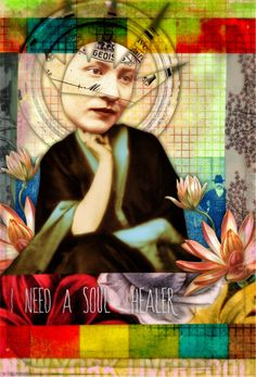 Soul Healer by Tumble Fish Studio, via Flickr from her digital kits at MischiefCircus.com #collage #digitalcollage #journaling