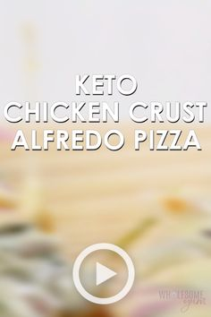Keto Chicken Crust Pizza Recipe with Alfredo Sauce by Wholesome Yum. This easy low carb recipe is best for people watching their weights. Pin made by … – Organics® Baby food Pizza Recipe Video, Chicken Recipes Video, Chicken Pizza Recipes, Recipe Videos, Chicken Crust Pizza, Keto Chicken, Tuna Pizza, Barbecue Chicken, Baby Food Recipes