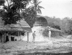 Kalkbranderij bij Puger, Oost Java. 1916