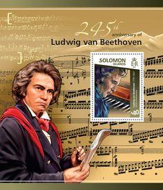 Post stamp Solomon Islands SLM 15118 b245th anniversary of Ludwig van Beethoven (1770–1827)