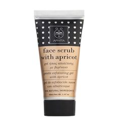 APIVITA Face Scrub With Apricot | Gentle Exfoliating Gel For Dull, Normal & Dry Skin