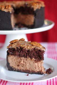 German+Chocolate+Cheesecake