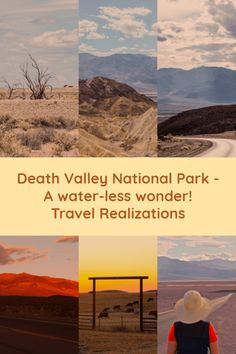 Death Valley National Park - A water-less wonder! Death Valley is one of the hottest places on earth, driest place in North America and its Badwater Basin is the point of lowest elevation in North America. Usa Travel Guide, Travel Usa, Travel Tips, Beach Travel, Budget Travel, Travel Guides, Places To Travel, Travel Destinations, Places To Visit