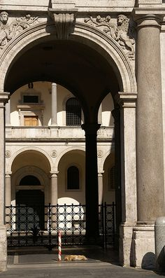 Rom, Piazza della Cancelleria, Palazzo della Cancelleria, Portal und Innenhof (portal and courtyard)