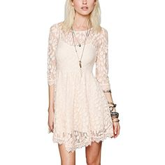 Wawoo Summer Lace Dress for Women 3/4 Sleeve Knee Length Fit and Flare Dress WAWOO http://smile.amazon.com/dp/B00V340EXK/ref=cm_sw_r_pi_dp_VDN1vb0HPB661