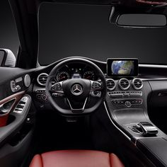 The immaculate interior of the all-new 2015 C-Class. #CClass #Mercedes #Benz #Instacar