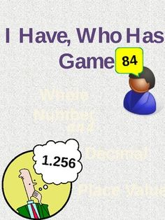 I Have Who Has Whole Number and Decimal Place Value