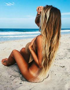 you could totally do this with your hair -- great beach look                                                                                                                                                                                 More