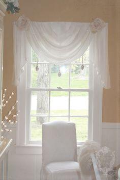 Shabby dream....love this window treatment.