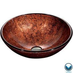 VIGO Mahogany Moon Glass Vessel Bathroom Sink | Overstock.com $225