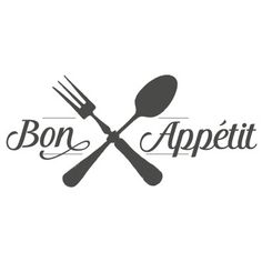 Sticker cuisine Bon appétit couverts croisés