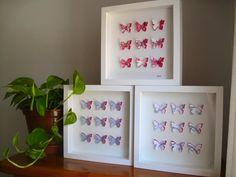Check out Sale /Set of 3/ 3D butterfly artwork / butterflies/ home decoration/ wall decor/ paper butterflies / love / nursery / gift ideas on gosiaandhelena