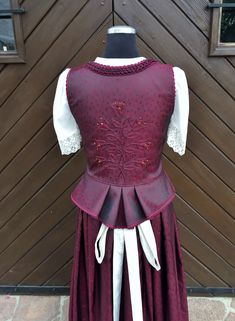German Outfit, Lederhosen, Peplum, High Neck Dress, Victorian, Detail, Sewing, How To Wear, Clothes