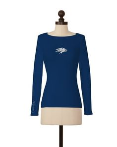Nevada Wolf Pack | Team Solid Boat Neck Top | meesh & mia
