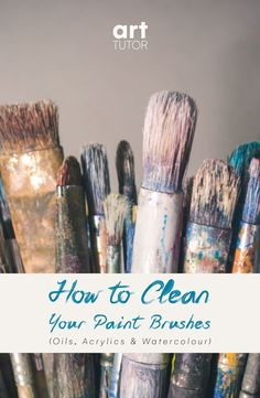 In this short and sweet video, learn how to clean your acrylic, watercolour and oils paint brushes and re-shape them if the bristles are splaying >>> Cleaning Oil Paint Brushes, Acrylic Paint Brushes, Watercolor Brushes, Watercolour, Brush Cleaning, Oil Brush, Wash Brush, Painting Tips, Painting Techniques