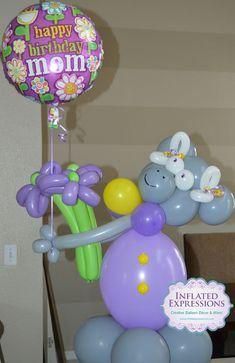 Happy Birthday Mom Balloon Bouquet Sculpture Arrangement