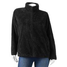 SONOMA life + style Sherpa Mockneck Jacket - Women's Plus Size