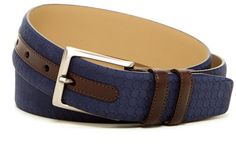 Mezlan Tile Etched Leather Belt