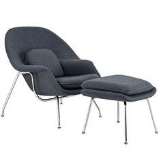 Modway Furniture Modern W Fabric Lounge Chair