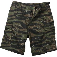 Tiger Stripe Camouflage Cargo Military BDU Shorts