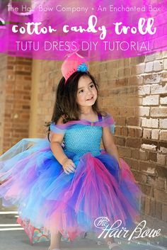 DIY Cotton Candy Troll Tutu Dress