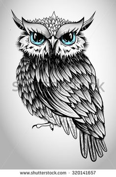 Owl Lady Illustration - 320141657 : Shutterstock