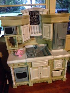Plastic Play Kitchen diy play kitchen remodel (plastic step 2) | kitchen paint
