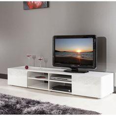 1000 id es sur le th me meuble tv blanc laqu sur pinterest ensemble meuble - Cdiscount meubles tv ...