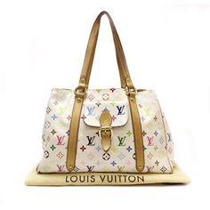 Louis Vuitton Aurelia MM Monogram Multicolore Shoulder bags White Canvas M40094