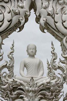 Buddha Sculpture Wat Rong Khun White Temple Thailand